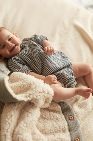 Mango Kids - Body pre bábätká Elena 62-80 cm sivá 80