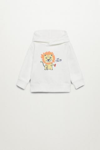 Mango Kids - Detská bavlnená mikina Selva 80-104 cm béžová 92