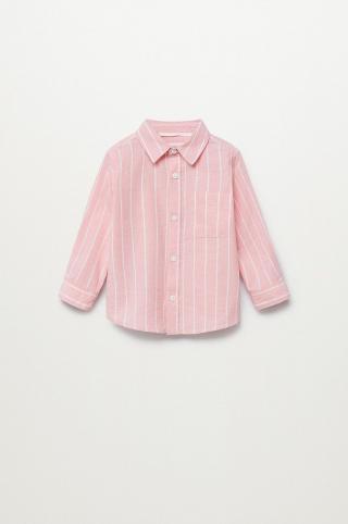 Mango Kids - Detská košeľa LUKA ružová 104