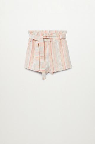 Mango Kids - Detské krátke nohavice Cachita 116-164 cm béžová 116