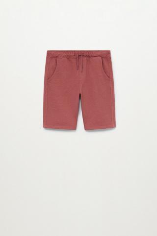Mango Kids - Detské krátke nohavice JAVI-I burgundské 140