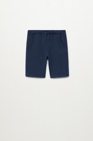 Mango Kids - Detské krátke nohavice JAVI tmavomodrá 116