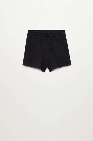 Mango Kids - Detské krátke nohavice Lea8 116-164 cm čierna 116
