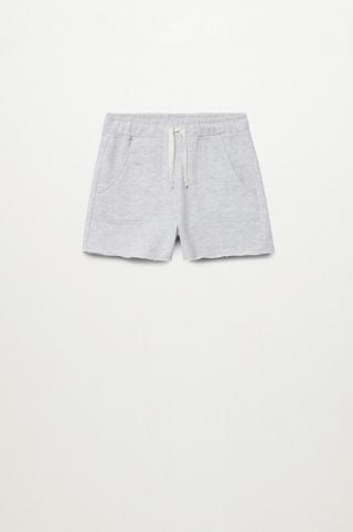 Mango Kids - Detské krátke nohavice Lea8 116-164 cm sivá 116
