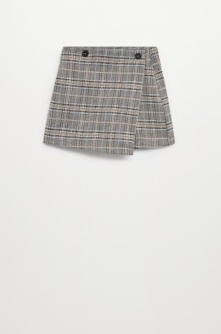 Mango Kids - Detské krátke nohavice Tania 116-164 cm sivá 128