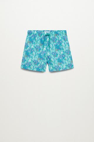 Mango Kids - Detské plavkové šortky Hawaii 116-164 cm tyrkysová 116
