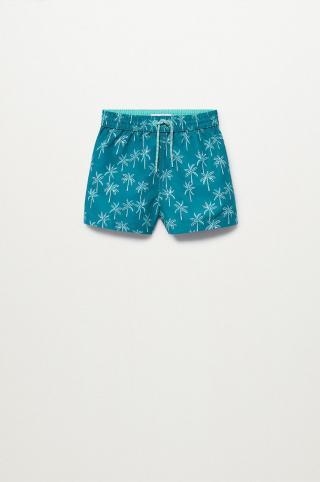 Mango Kids - Detské plavkové šortky Palmerab 86-104 cm zelená 104
