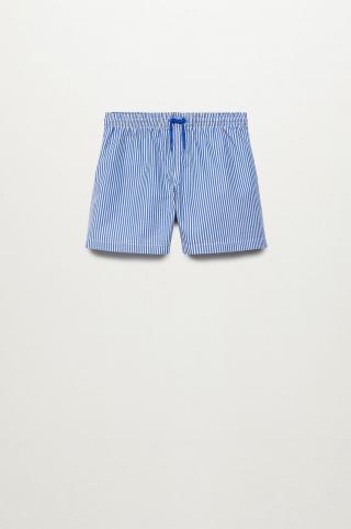 Mango Kids - Detské plavkové šortky Quique 116-164 cm modrá 116