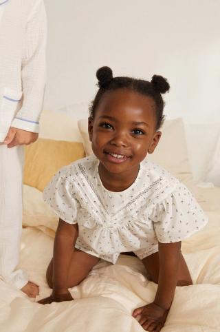 Mango Kids - Detské pyžamo Blanca 80-104 cm biela 92