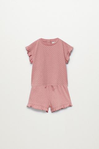 Mango Kids - Detské pyžamo Dotti 80-104 cm ružová 104