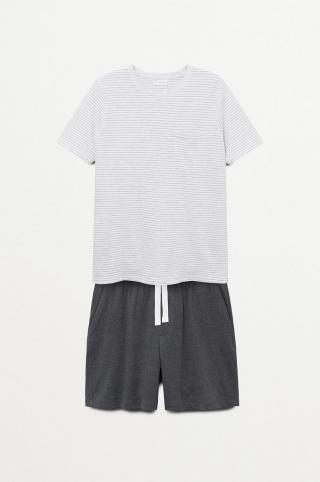 Mango Kids - Detské pyžamo James biela M/L