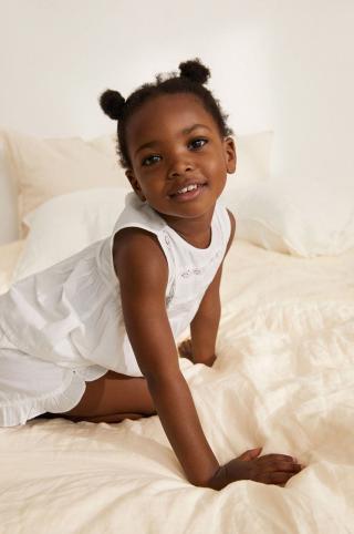 Mango Kids - Detské pyžamo Lidiab 80-104 cm biela 92