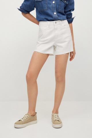 Mango Kids - Detské rifľové krátke nohavice Lauren biela S