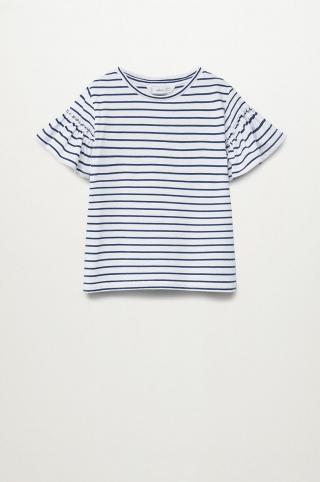 Mango Kids - Detské tričko Bande 110-164 cm tmavomodrá 128