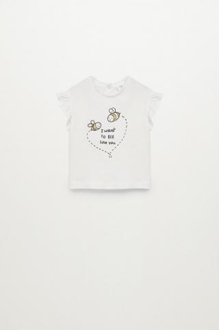 Mango Kids - Detské tričko Boleta 80-104 cm biela 98