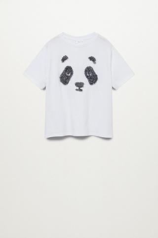 Mango Kids - Detské tričko Chiffy 116-164 cm biela 116