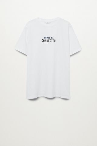 Mango Kids - Detské tričko Connect biela S