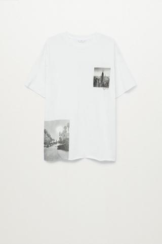 Mango Kids - Detské tričko Dual biela S