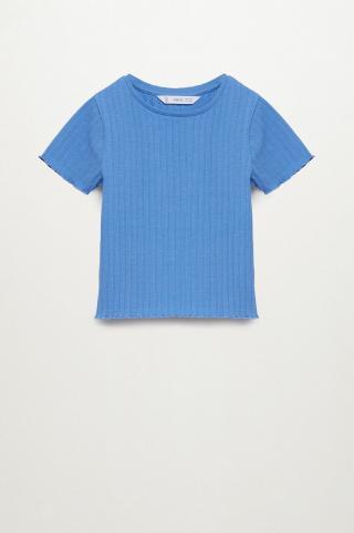 Mango Kids - Detské tričko Jane 116-164 cm modrá 116