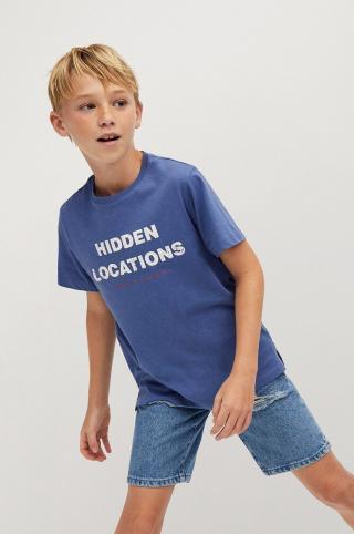 Mango Kids - Detské tričko Location 110-164 cm modrá 128
