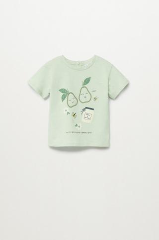 Mango Kids - Detské tričko Pera 80-104 cm zelená 92