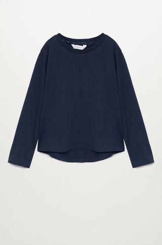 Mango Kids - Detské tričko s dlhým rukávom BASICA8 tmavomodrá 152