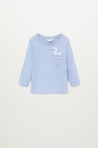 Mango Kids - Detské tričko s dlhým rukávom MARINA modrá 92