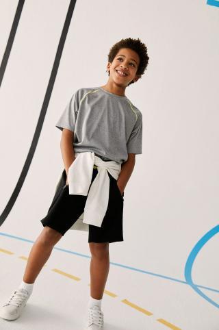 Mango Kids - Detské tričko Tgoal 128-164 cm sivá 152
