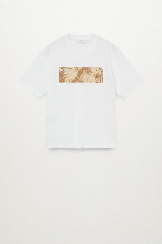 Mango Kids - Detské tričko Toast 110-164 cm biela 116