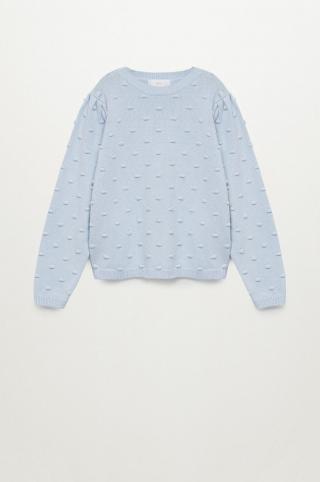 Mango Kids - Detský sveter Pompa 116-164 cm modrá 116