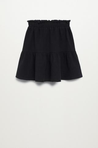 Mango Kids - Dievčenská sukňa Floria 116-164 cm čierna 116
