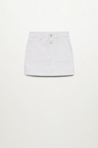 Mango Kids - Dievčenská sukňa Rita 110-164 cm biela 116