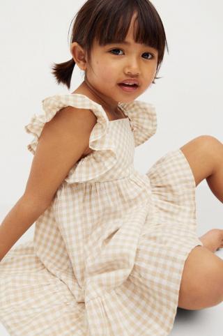 Mango Kids - Dievčenské šaty Ani 80-110 cm béžová 110