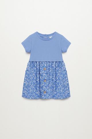 Mango Kids - Dievčenské šaty Berta 80-104 cm modrá 92