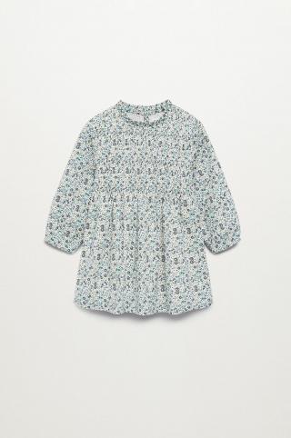 Mango Kids - Dievčenské šaty BLUME 80-110 cm biela 104