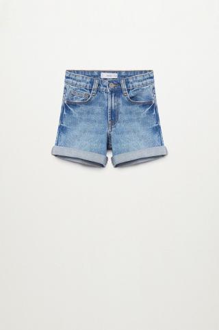 Mango Kids - Rifľové krátke nohavice Chip 110-164 cm modrá 116