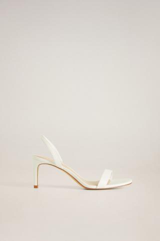 Mango - Kožené sandále Cora dámské biela 36