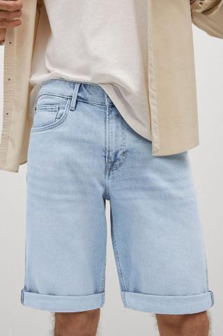 Mango Man - Rifľové krátke nohavice Rock pánské fialová 38
