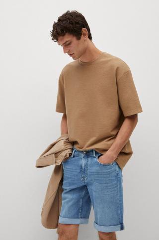 Mango Man - Rifľové krátke nohavice Rock pánské modrá 36