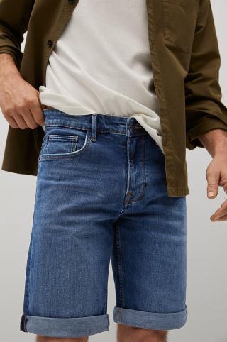 Mango Man - Rifľové krátke nohavice Rock pánské tyrkysová 36