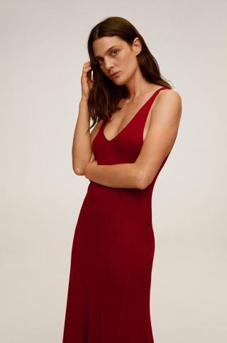Mango - Šaty Amster dámské červená XS