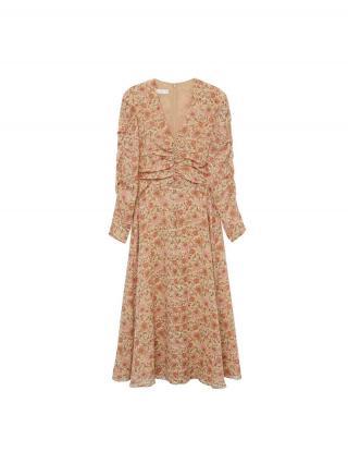 MANGO Šaty Flo  béžová / zmiešané farby dámské 34