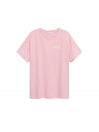 MANGO TEEN COLLECTION Tričko SORBETE  ružová / zlatá žltá / biela dámské 116-128