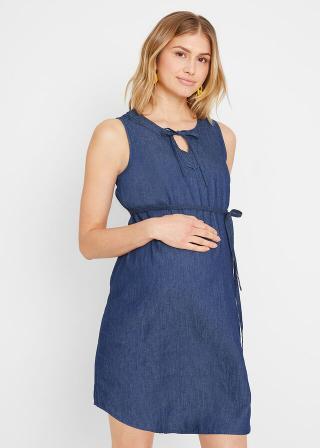 Materské džínsové šaty dámské modrá 34,36,38,40,42,44,46,48,50,52