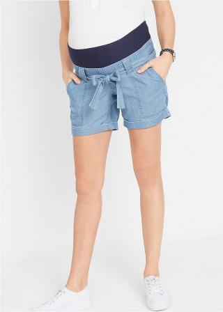 Materské plátené šortky v džínsovom vzhľade dámské modrá 34,36,38,40,42,44,46,48,50,52