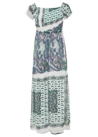 Maxi šaty, potlačené dámské biela 42,36,38,40,44,46,48,50,52,54