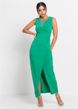 Maxi šaty, večerné, s ozdobou dámské zelená 32/34,36/38,40/42,44/46,48/50