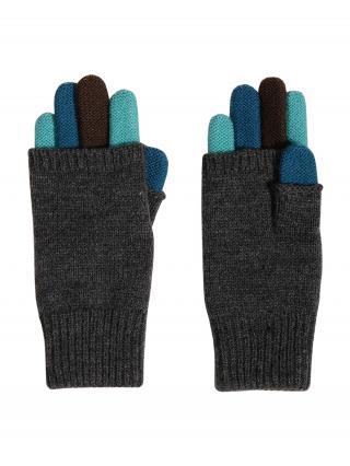 MAXIMO Rukavice  sivá melírovaná / modrá / tyrkysová / čierna pánské XS