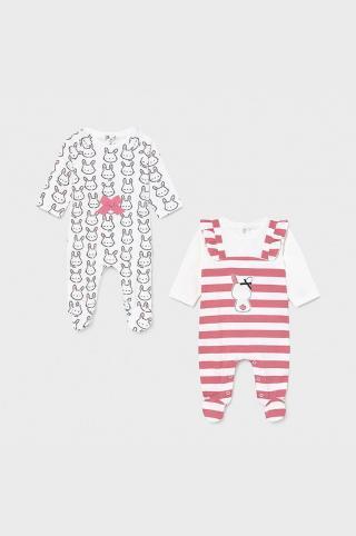 Mayoral Newborn - Dupačky pre bábätká 55-86 cm  ružová 80