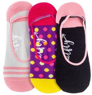 Meatfly 3 PACK - dámske ponožky Low socks S19 N / Pink